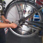 Alquiler de bicicletas Mallorca-arreglando bici1.IMG