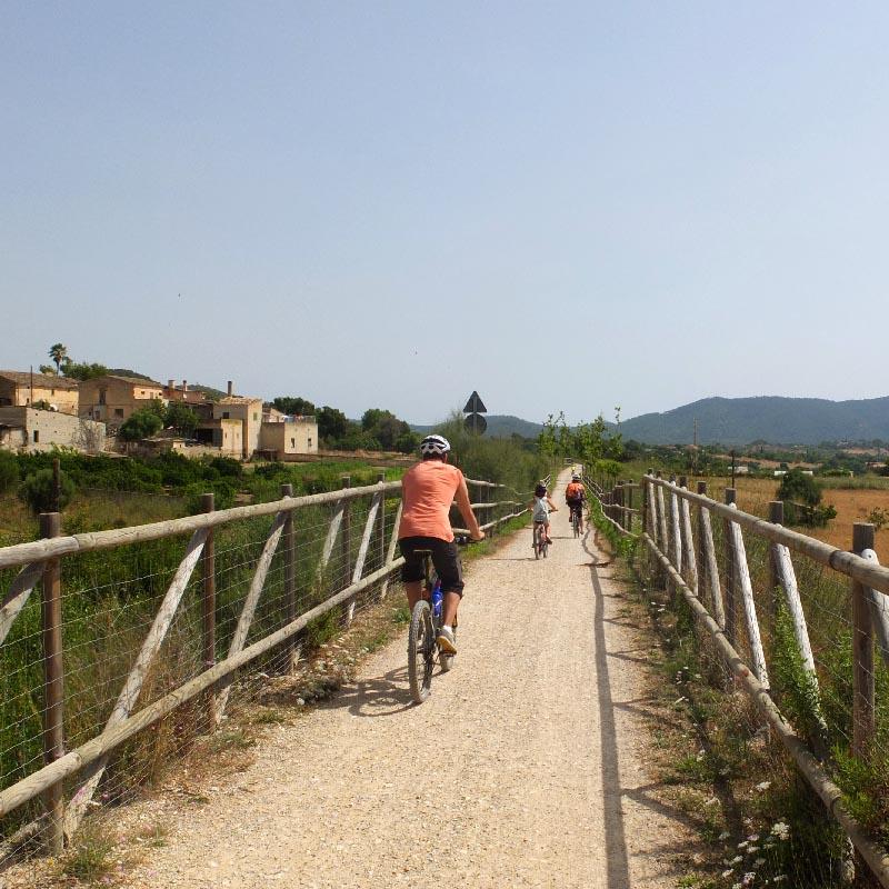 Alquiler de bicicletas Mallorca.Vía Verde, Son Carrio 6.IMG