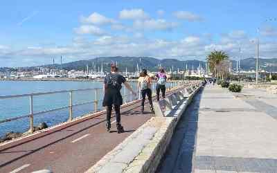 Carril bici por Playa de Palma
