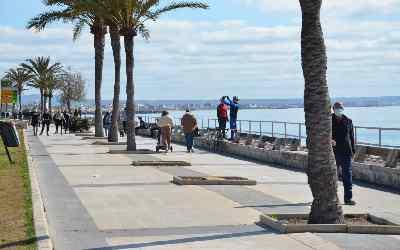 Paseo marítimo de Palma en bicicleta