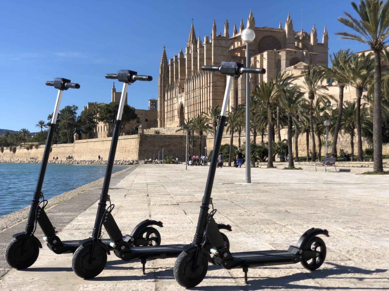 alquile de patinete eléctrico para visitar Palma