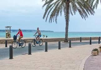 alquiler de bicicletas en palma de mallorca-carril bici