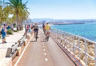 alquiler de bicicletas en palma de mallorca-carril biciv palma