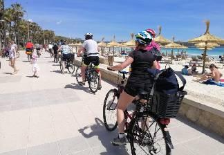 alquiler de bicicletas mallorca-excursion guada cala morlanda y punta de n'amer-de camino a cala morlanda