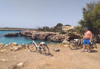 alquiler de bicicletas mallorca-excursion guada cala morlanda y punta de n'amer-fin