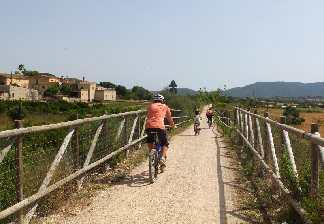 alquiler de bicicletas mallorca-excursión guiada vía verde, son carrió y punta de n'amer-en familia