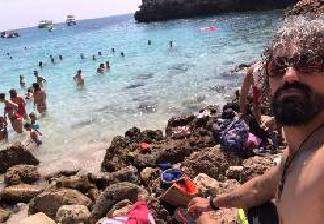 alquiler de bicicletas palama de mallorca- baño en playa cala morlanda